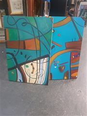 Sale 8836 - Lot 2043 - Artist Unknown (2 Works): Sydney Harbour Scenes, acrylic on canvas, 76 x 51cm, each, signed lower