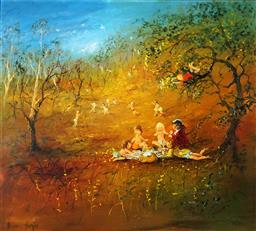 Sale 9123J - Lot 111 - David Boyd (1924 - 2011) The Picnic 1980 oil on board 101.5 x 111.5 cm signed lower left: David Boyd; dated lower right: 1980 Proven...