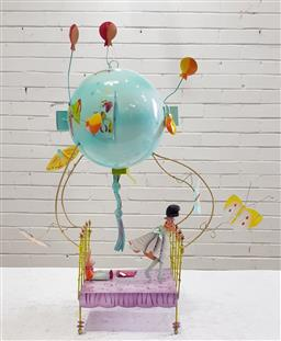 Sale 9101 - Lot 2207 - Kids metal mobile (h55cm)