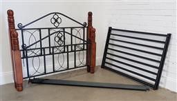 Sale 9174 - Lot 1173 - Timber and metal bed frame (h:124 x w:147 x d:195cm)