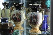 Sale 8160 - Lot 51 - Edwardian Pair of Mantle Vases