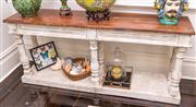 Sale 8298 - Lot 19 - A French Timber and partial painted Console table 182 x 42 x 82cm