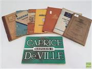 Sale 8900 - Lot 97 - Collection of Holden Car Booklets incl. Vauxhall Senior Inspection Book; Owners Handbook Caprice De Ville; Instructions Chevrol...