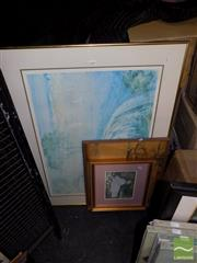 Sale 8471 - Lot 2097 - 4 Framed Prints, Lloyd Reece, Monet, etc