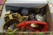Sale 8530 - Lot 2209 - Box of Watches & Cufflinks