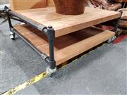 Sale 8676 - Lot 1012 - Industrial Style Coffee Table on Castors