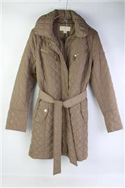 Sale 8800F - Lot 43 - A Michael Kors quilted hooded jacket in bronze, size medium