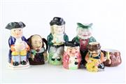 Sale 8849 - Lot 28 - Victorian Toby Jug with Others incl. Burleigh Shakespeare (6) height of tallest 26cm