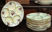 Sale 8976H - Lot 11 - A group of Limoges porcelain oyster plates, all hand painted by Helen OReilly
