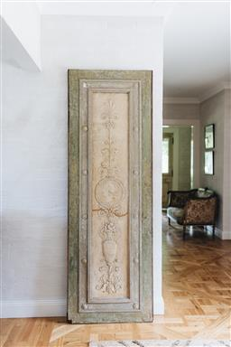 Sale 9135H - Lot 59 - A French plaster panel with fine detailing. Circa 1820, condition commensurate with age,  2.13M Height x 72cm Width