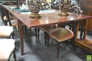 Sale 8277 - Lot 1060 - French Style Fruitwood Draw-Leaf Dining Table