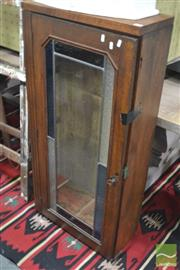 Sale 8307 - Lot 1068 - Leadlight Front Arms Cabinet