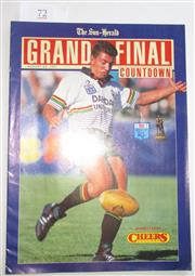 Sale 8404S - Lot 72 - Sun Herald Grand Final Countdown showing Penrith player Greg Alexander, 25 August 1991, 30 pages