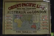 Sale 8522 - Lot 2080 - Orient-Pacific Map Australia to London, 1903
