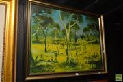 Sale 8541 - Lot 2107 - Pro Hart Print - Chop Picnic at the Creek 67.5 x 87.5cm