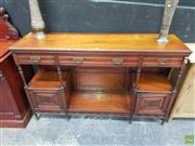 Sale 8637 - Lot 1010 - Edwardian Timber Sideboard
