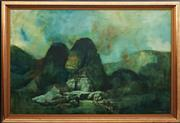 Sale 8791 - Lot 567 - Richard Haughton James (1906 - ) - Sphinx 100 x 150cm