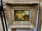 Sale 8888 - Lot 2044 - Artist Unkown Still Life - Fruit oil on panel, 42 x 46.5cm (frame), unsigned