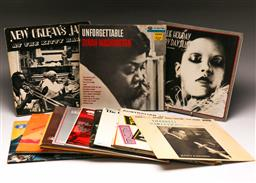 Sale 9136 - Lot 28 - A collection of mostly jazz LP records including Dinah Washington, Billie Holiday