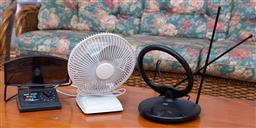 Sale 9190H - Lot 445 - A Electric fan Ts 15D & two TV Antenna's
