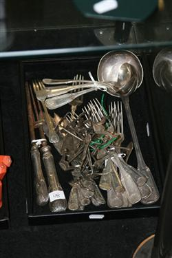 Sale 7917 - Lot 86 - Silver Plated Shell Pattern Cutlery incl Ladle & Silver Plated Knife Rests