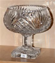 Sale 8080A - Lot 84 - A Heavy Crystal footed bowl