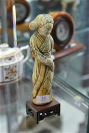 Sale 8098 - Lot 34 - Ivory Carved Figure of a Lady