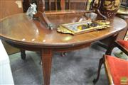 Sale 8277 - Lot 1095 - Timber Extension Dining Table with Single Leaf on Castors