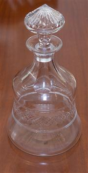 Sale 8308A - Lot 96 - English Webb hand cut lead crystal decanter. Ht: 24cm