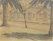 Sale 8506 - Lot 2003 - Sydney Ure Smith (1887 - 1949) - Untitled, 1945 (Residences) 18.5 x 23cm