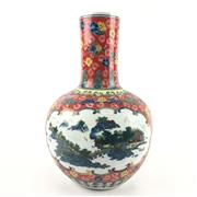 Sale 8545N - Lot 65 - Chinese Famille Rose Vase (H: 34cm)
