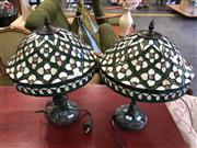 Sale 8801 - Lot 1561 - Pair of Lead Light Shade Table Lamps