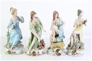 Sale 8913C - Lot 87 - Group of Four Capodimonte Lady Figures (A/F, some chips and repairs average height 27cm)