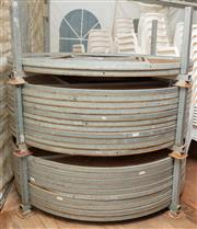 Sale 8984M - Lot 2 - A group of 28 circular stackable event tables 180cm diameter