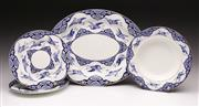 Sale 9078 - Lot 51 - 19th Century Brownfield Bird decorated Ceramics Incl Serving Tray (L:34cm) & Three Dishes