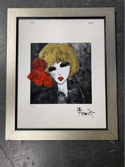 Sale 9159 - Lot 2082 - LEENE AAVIK  Ashley, mixed media on board (A.F - foxing) , frame: 60 x 49 cm, signed lower right -