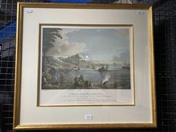 Sale 9159 - Lot 2027 - E. Duncan City of Victoria, Capital of Hongkong decorative print, frame: 51 x 57 cm, together with a framed photo -