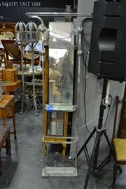 Sale 8035 - Lot 1082 - Metal Framed Hall Stand w Mirrored Back