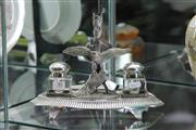 Sale 8160 - Lot 30 - Silver Plated Desk Set