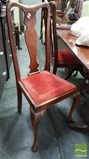 Sale 8277 - Lot 1094A - Set of Four High Back Chairs with Upholstered Seat