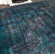 Sale 8298 - Lot 10 - A Large Contemporary Green handknotted woollen rug. 401 x 313cm
