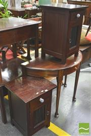 Sale 8338 - Lot 1437 - Pair of Single Door and Drawer Bedside Cabinets