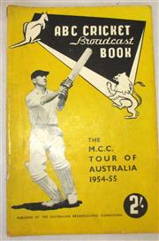 Sale 8460C - Lot 34 - ABC Cricket Book MCC Tour of Australia 1954–55. Good.