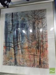 Sale 8513 - Lot 2039 - Joy Engelman - Bare Trees, 2011, mixed media on paper, 130 x 112cm, signed lower