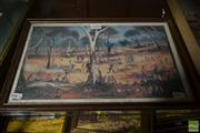 Sale 8537 - Lot 2088 - Kevin Charles (Pro) Hart Chop Picnic at the Creek, decorative print, 26 x 40cm (frame size) signed lower right