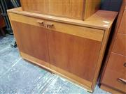 Sale 8661 - Lot 1069 - Retro Timber Cabinet with Two Doors