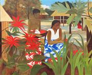 Sale 8794 - Lot 2012 - Artist Unknown - Island Scene (After. Ray Crooke), 165 x 194cm, unsigned