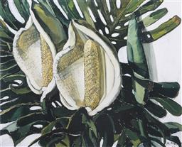 Sale 9099A - Lot 5096 - Margaret Preston (1875 - 1963) - Monstera Deliciosa 35 x 43 cm (frame: 57 x 67 x 3 cm)
