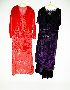 Sale 3741 - Lot 646 - Two 1930s devore ball dresses