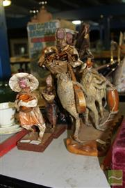 Sale 8236 - Lot 81 - Taxidermy Cane Toad Band with Papier Mâché Figures